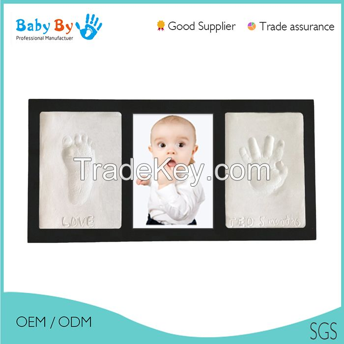 hot sale baby handprint and footprint photo frame package ink pad