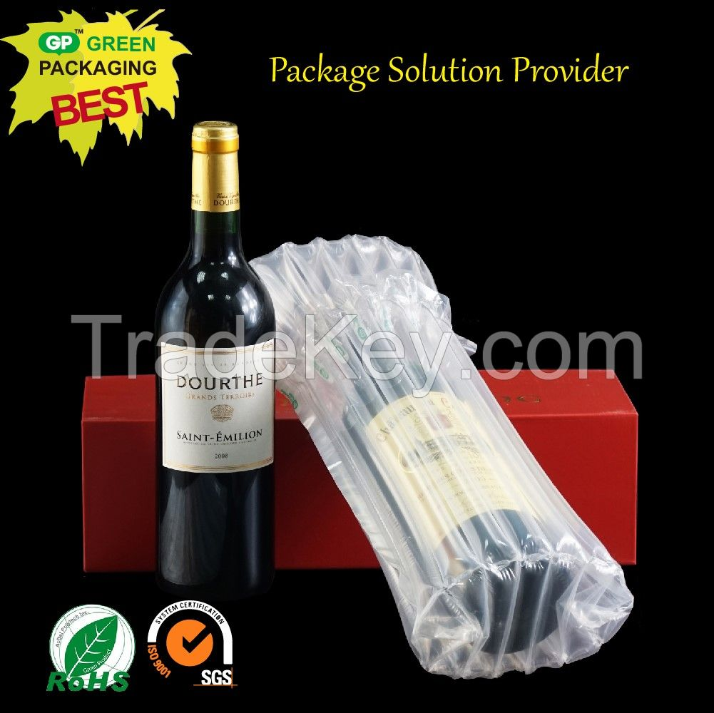 Air bag transportation protective air bag packaging/air filled bags packaging for wine bottle