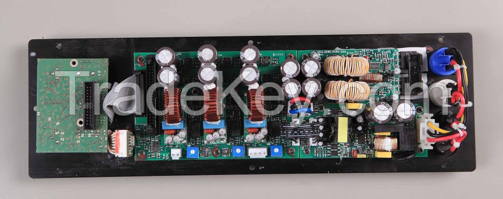 2 channel class D amplifier module with built in 1in-2out German made DSP