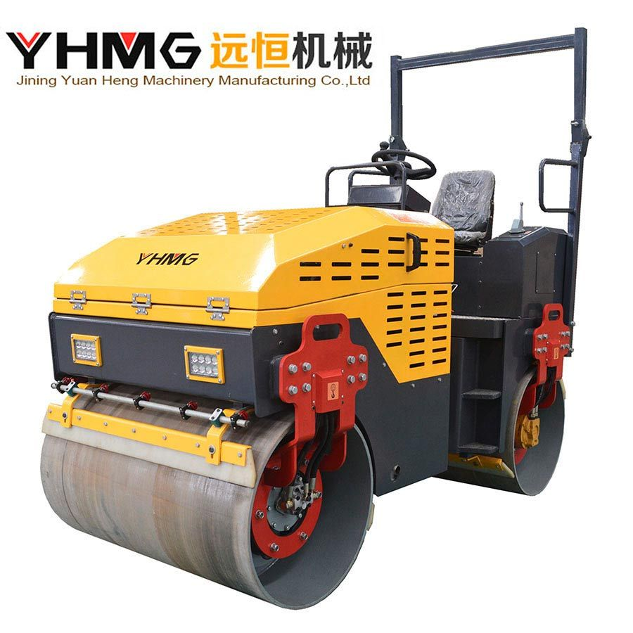 Hydraulic 3 Tons Double Steel Compaction Double Drum Road Roller