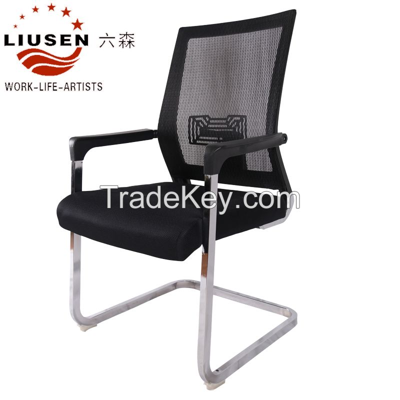 Black Simple and Ergonomic Modern Mesh Office Meeting Chairs(LS-WB-0001)