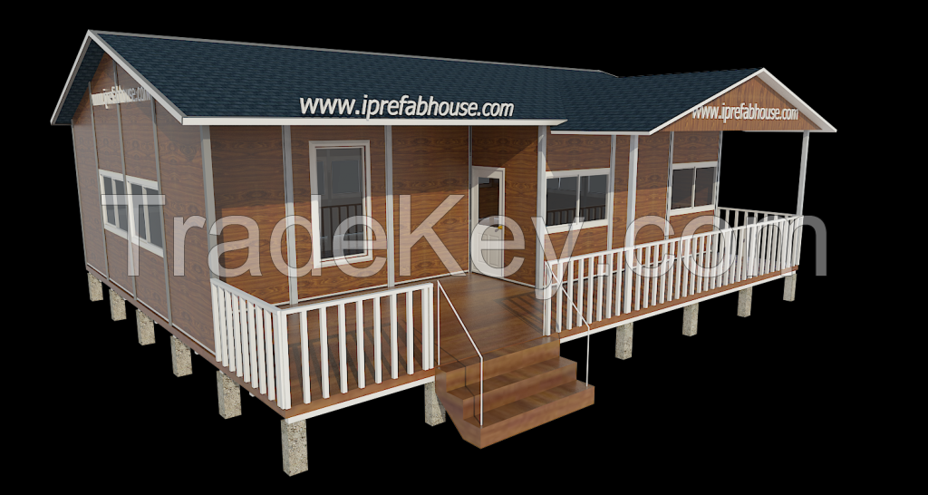custom one layer prefab  vacation house,6 rooms ,1 stories