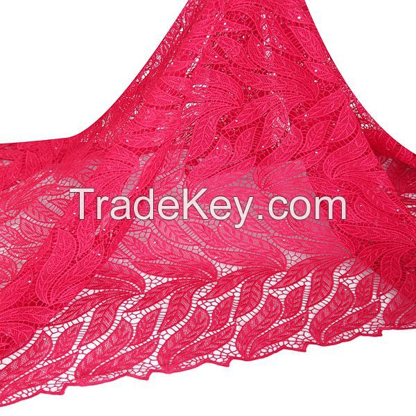 Free samples new york wholesale african guipure cord lace fabric