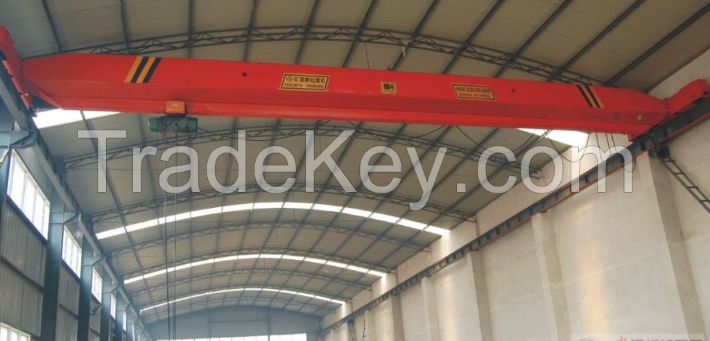 Single beam 10 ton overhead crane