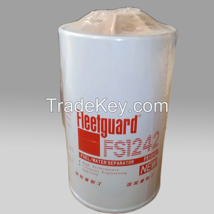 Fleetguard cummins diesel engine fuel filter water separator FS1242