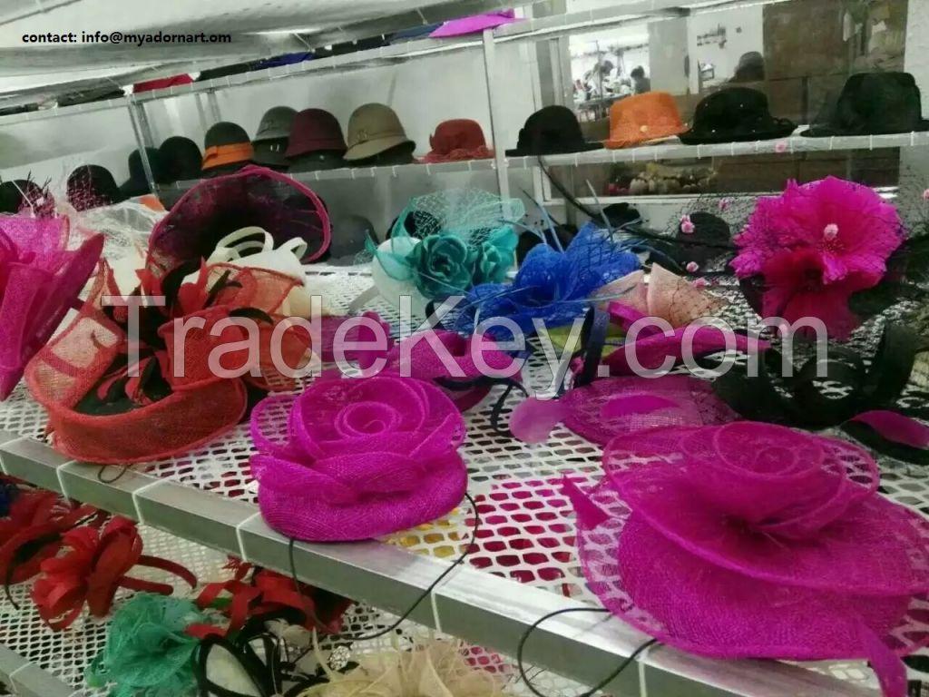 Sinamay Fabric hats, Wedding Hat, church hat, woman hat