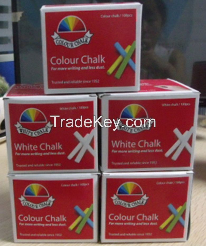 Dustless Teaching Chalk in color box , Blackboard chalk , chalk for school, 100pcs hot sell coloured chalk dustless chalk good for school