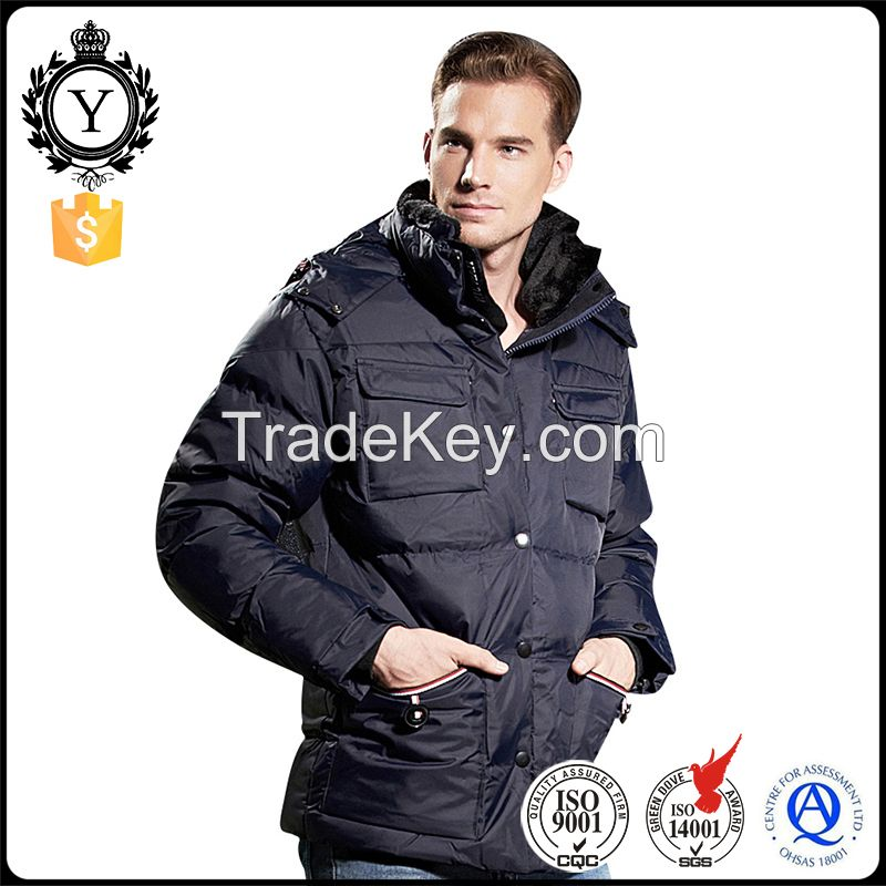 2016 COUTUDI Stylish Insulated Solid Ultra Warm Sexy Men Winter Down Coats with Hood