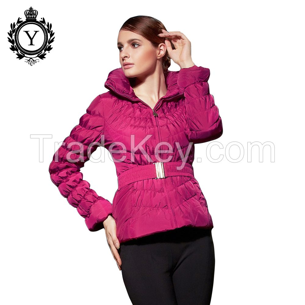 COUTUDI on sale premium warmest lady ultra thin foldable quilted light black down jacket