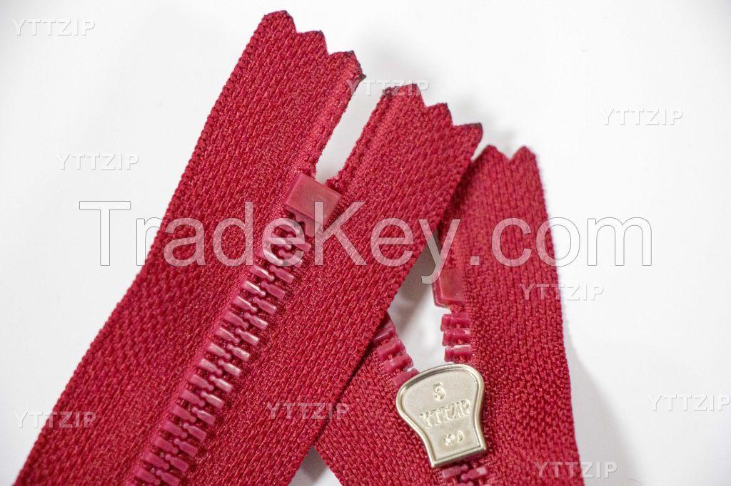 5# plastic zipper