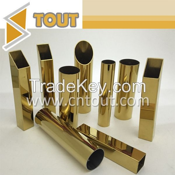 304, 316 stainless steel decorative tube for hotel and room decorative