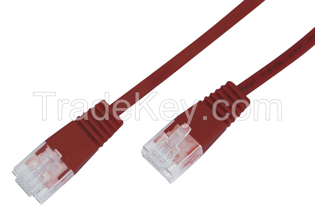 Pure Copper twisted pairs 23awg jumper cable  UTP Cat6 Patch Cord