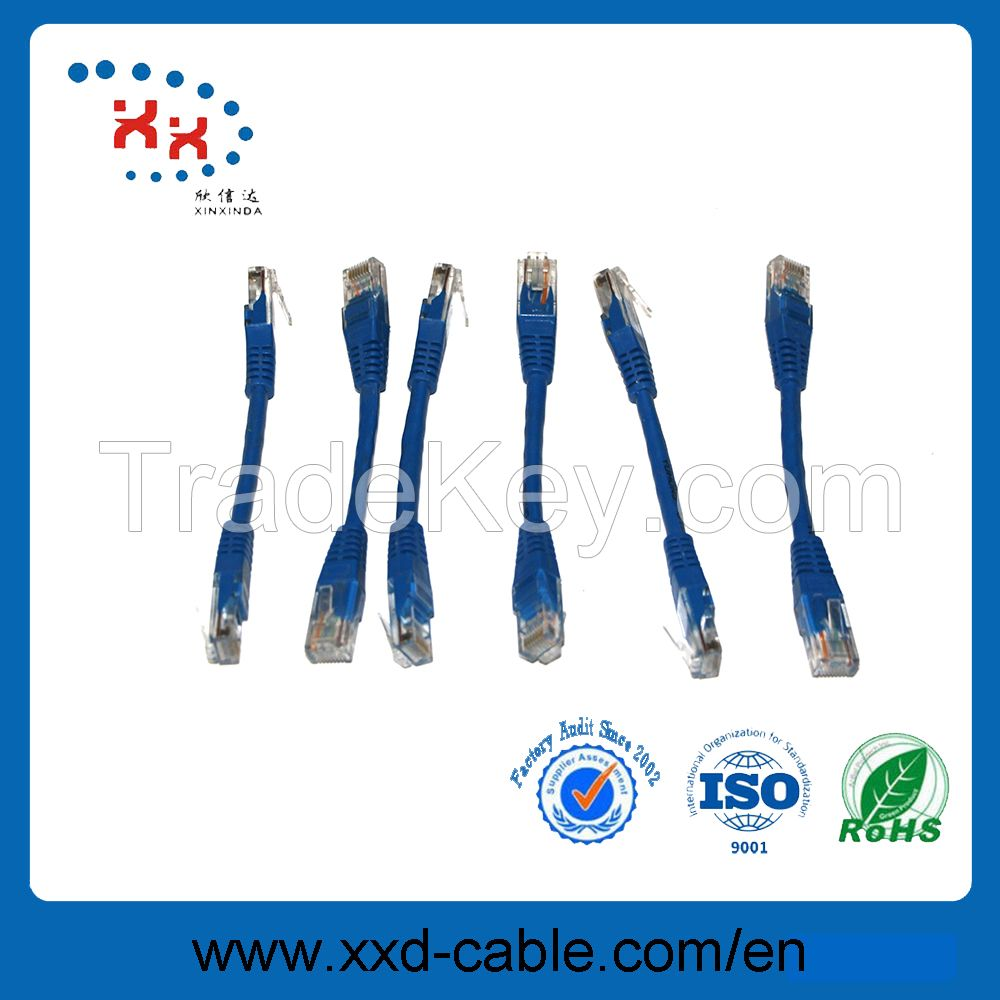 4p twisted pair Rj45 fluke test CU utp cat5e patch cord cable