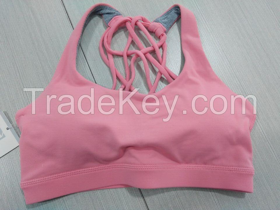 Fashion women fitness wear seamless yoga sport bra
