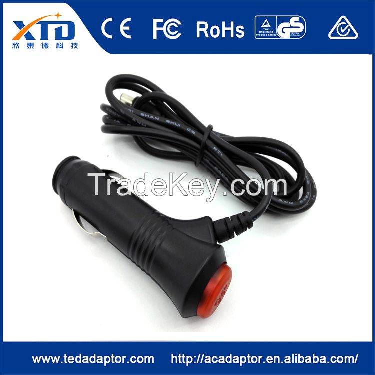 12v1a straight through switch lighter car charger For router