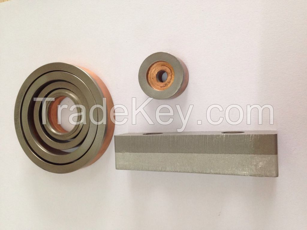 HE-Join 300 Bimetal Clad Stainless Steel Copper transition joint for heat exchangers swimming pool