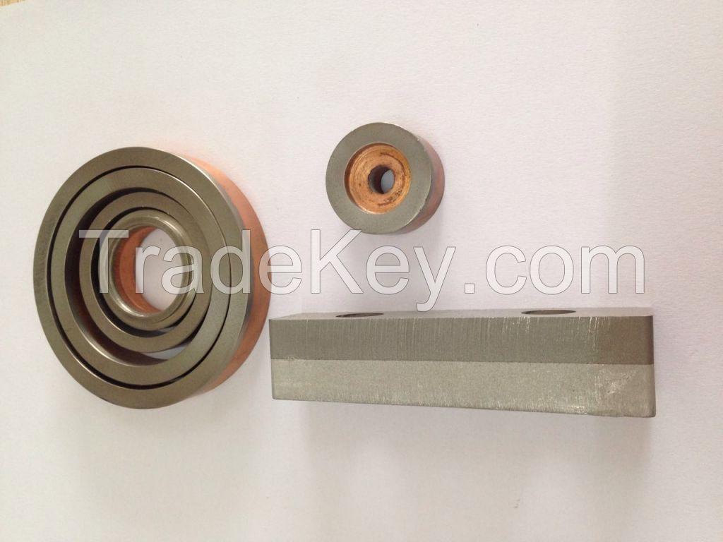 HE-Join 500 Bimetallic Clad Aluminum Copper transition joint for seawater source heat pump, heat exchangers, seawater desalination