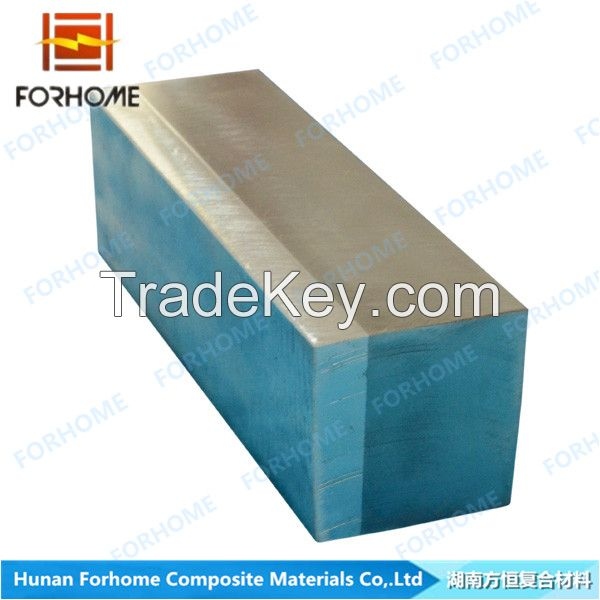 Explosive Clad metal Aluminum Alloyed TitaniumSteel Structure Transition Joint for shipbuilding, ship repair