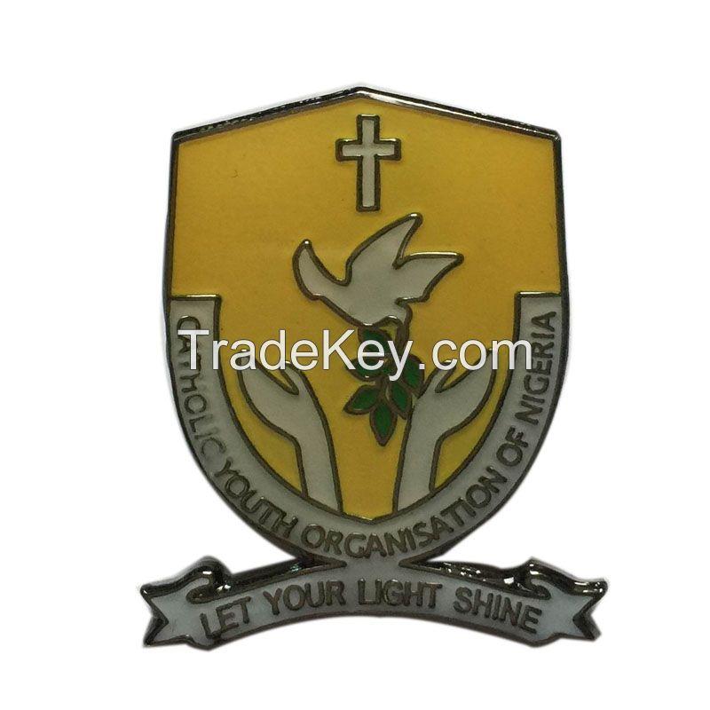 school enamel lapel pin
