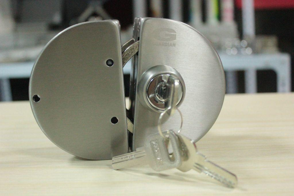 STAINLESS STEEL DOUBLE GLASS DOOR LOCKS CENTRAL DOOR LOCKS