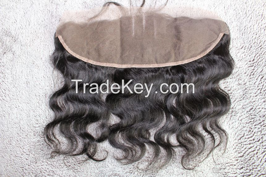human hair closures,full lace frontal closures,13*4 inch with baby hair