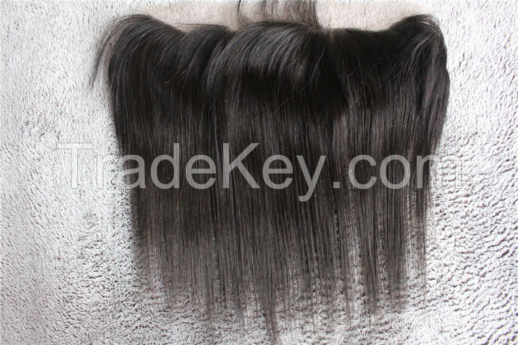 human hair closures,full lace frontal closures,13*4 inch with baby hair straight hair