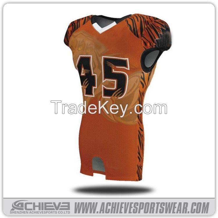 Wholesale customized american football jersey sublimation american foo