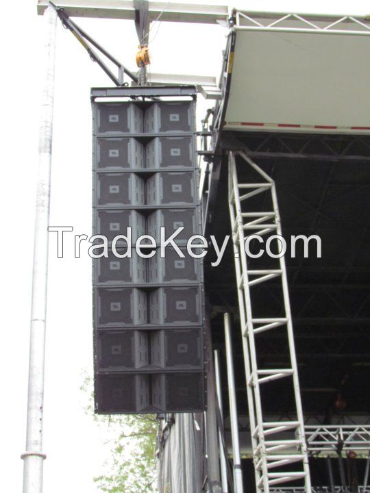 Vertec Series 3 - Way Dual 12 inch Line Array Speakers for Concert and Band