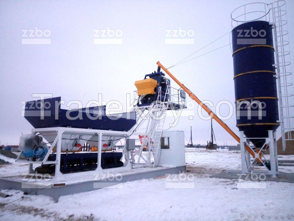 Mobile concrete plant