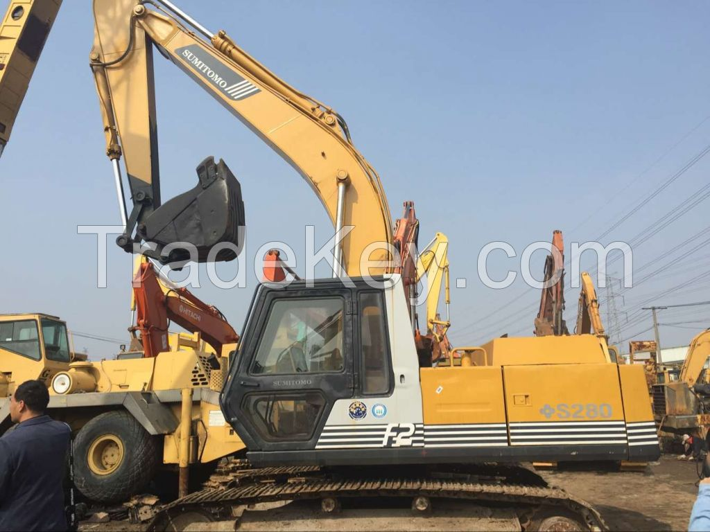 Japanese Original Track Digger For Sale, Sumitomo S280 Crawler Excavator