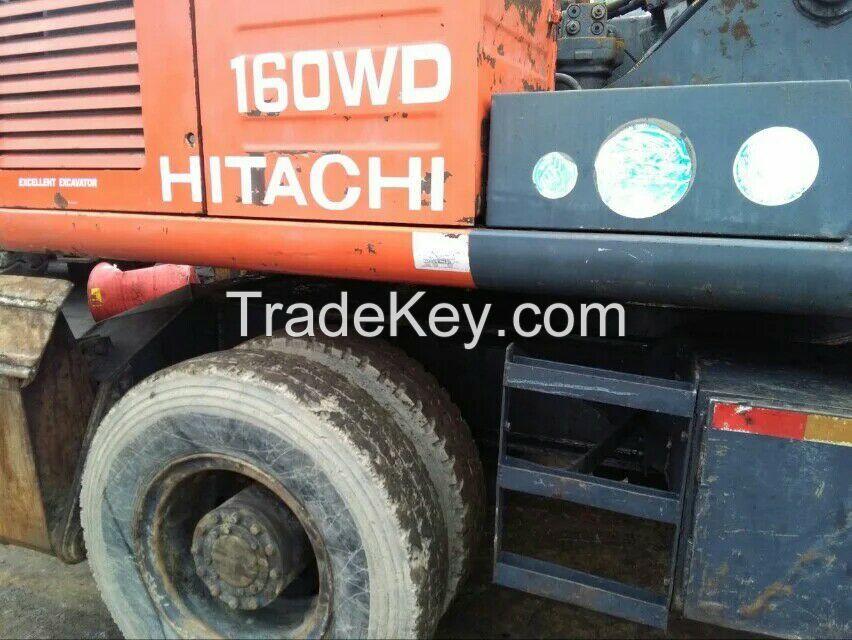 Japanese Hydraulic Wheel Excavator,Hitachi Used EX160 Wheel Digger,Secondhand Cheap EX160 Wheel Excavator