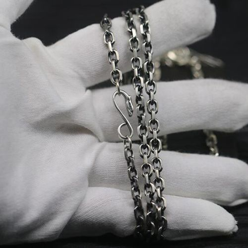 Men's Sterling Silver Eagle Hook Anchor Link Chain