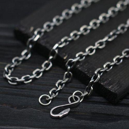 Men's Sterling Silver Eagle Hook Anchor Link Chain
