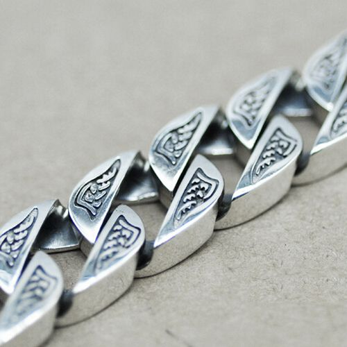 Sterling Silver Bold Curb Chain Bracelet for Men