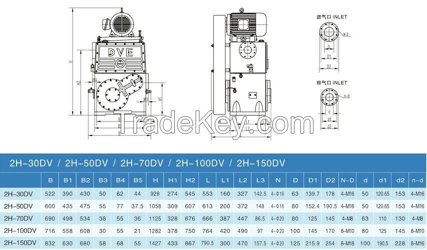 Double Stage Vacuum Impregnation Rotary Piston Pump