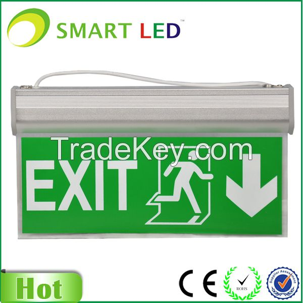 LED 3W Maintained Exit Sign Legend Down