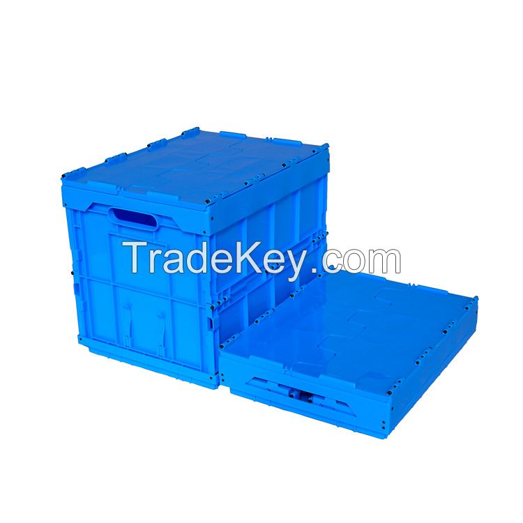 collapsible plastic box with lid Plastic moving crate