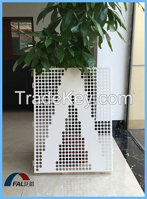 Metal Aluminum Decorative Engraved Perforated Sheet Panel For Exterior Wall Decoration
