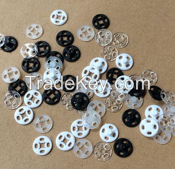 Transparent white black color plastic button Snap fastener for coat cloth garment bags caps