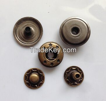 environmental brass material button  metal snap buttons