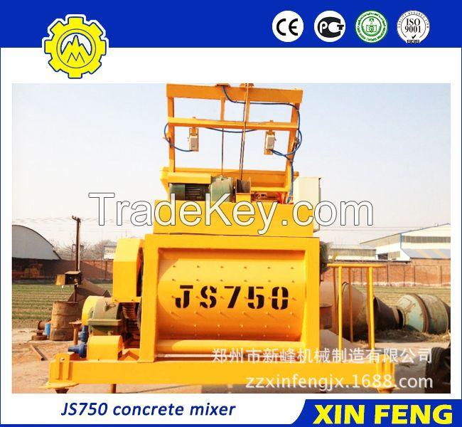 JS750 concrete mixer with skip hoist