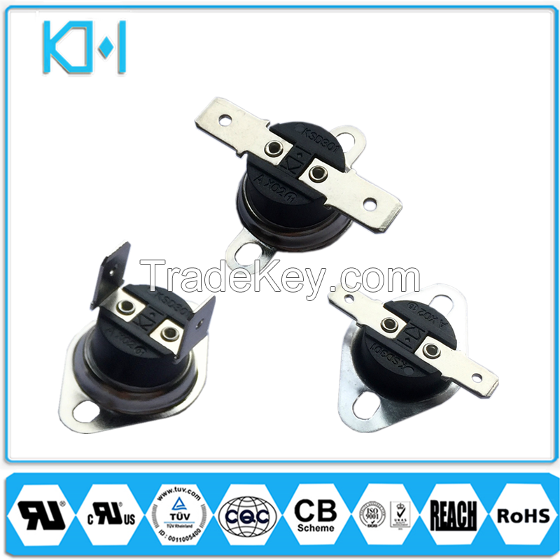 KSD301 bimetal thermostat switch temperature protection