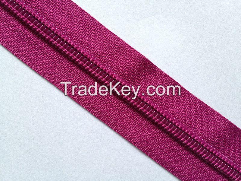 Nylon zipper long chain
