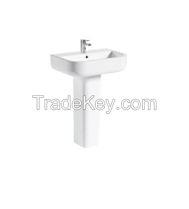 White Ceramic Pedestal Basin