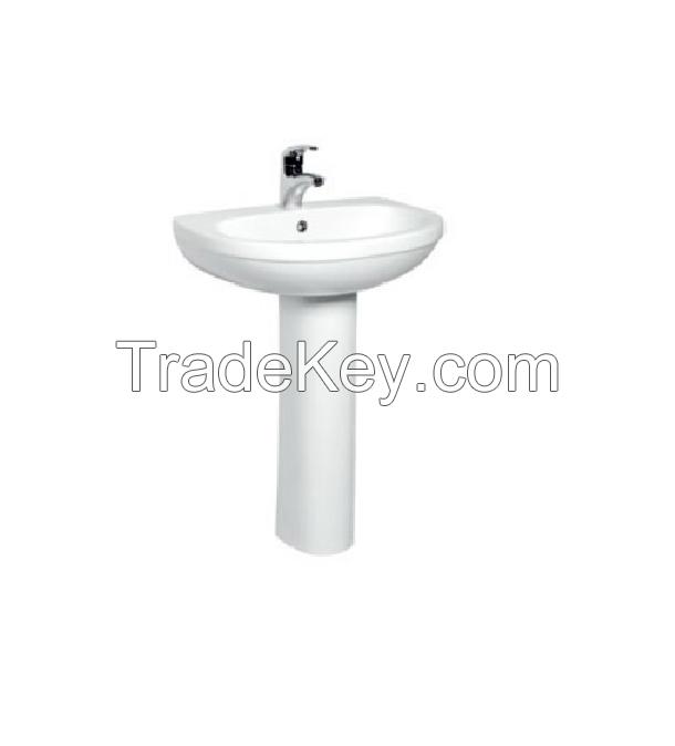 Ceramic Pedestal Basin White color