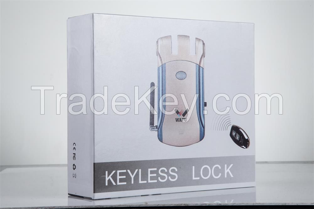 WAFU Wireless Smart Remote Lock Invisible Remote Lock Anti-theft Lock with 4 Remote Keys