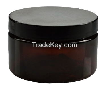 Amber Plastic Jar