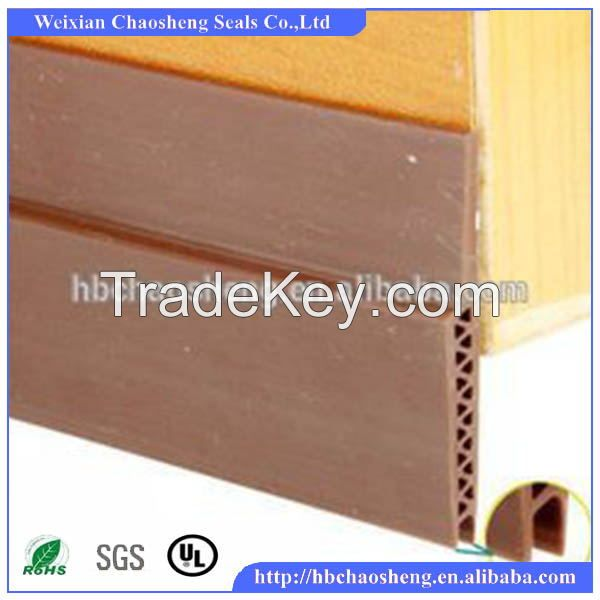 PVC extruded rubber seals strip for wood door