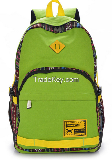 wholesale retro canvas computer backpack