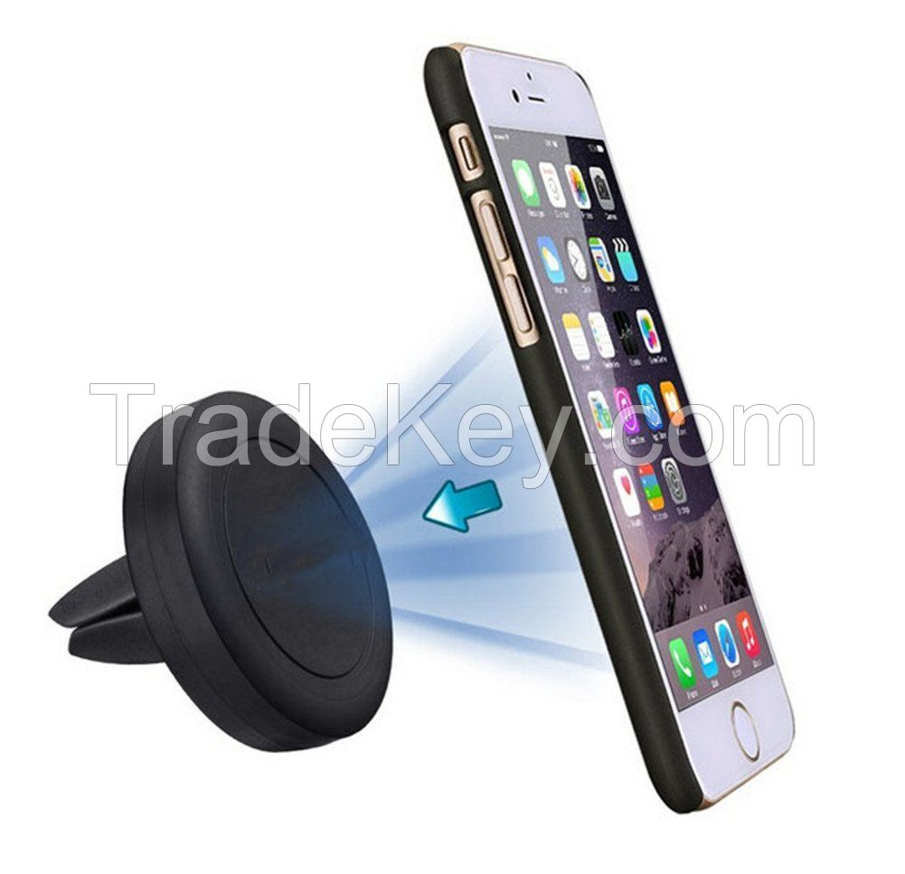 Car Mount Holder,Kmida Universal Magnetic Air-vent Car Mount Holder for iPhone 4 5 5C 5S 6 6 Plus, Samsung Galaxy S Series, Note, and Android Smart Phones Mini Tablets